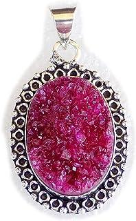 Solar Druzy Agate Pendant, Silver Plated Brass Pendant, Handmade Pendant, Gift Jewelry, Women Jewellry, Fashion Jewellry, ...