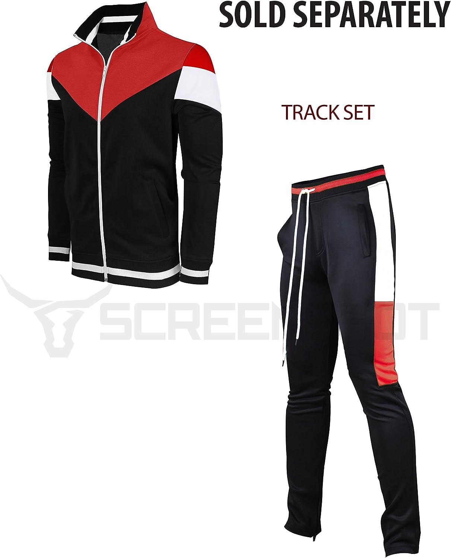 . SCREENSHOT Screenshotbrand-P41705 Mens Hip Hop Streetwear Premium Slim Fit Track Pants