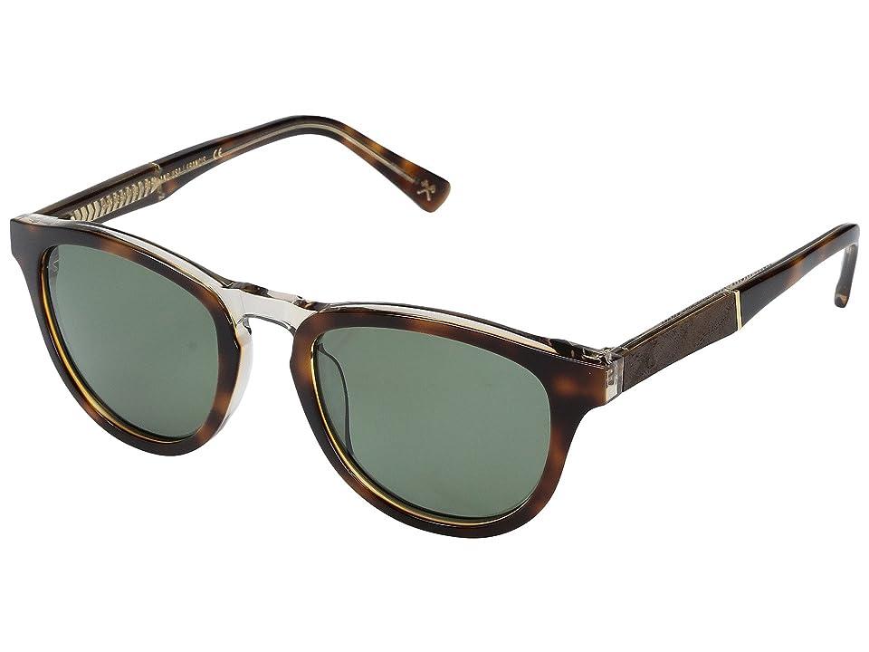 Shwood Francis Acetate Wood Polarized (Brindle/Elm Burl/G15 Polarized) Polarized Sport Sunglasses