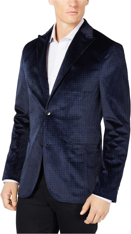 Ryan Seacrest Distinction Branded goods Men's Blazer Velvet Oakland Mall Slim-Fit Check