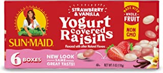 Sun-Maid Raisins Strawberry & Vanilla, 1-Ounce (6 Count, Pack - 3)