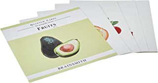 Brainsmith Quantum Cards – Fruits Set 1 – Encyclopaedic Flashcards – Early Learning – Sensory Development - Birthday Gift (For children from 8 months and above – Brain Development)