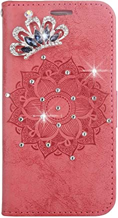 Bear Village  iPhone iPhone Case  Premium Scratch Resistant Leather Case  TPU Inner Shell Flip Protective Cover with Card Slot for Apple iPhone iPhone Red
