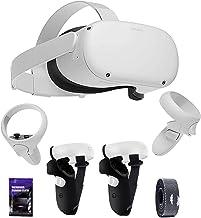 Oculus Quest 2 Casque de réalité virtuelle 256 Go avec son cinématique 3D et housse de protection antidérapante TSBEAU