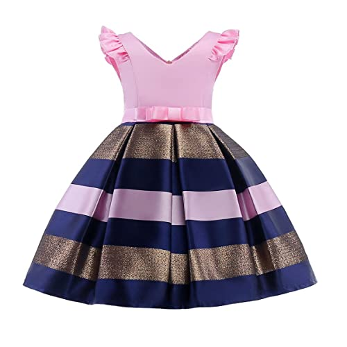 af15e897dff03 NSSMWTTC 2-10T Girls Pageant Stripe Dresses for Easter Christmas Day  Halloween Dress