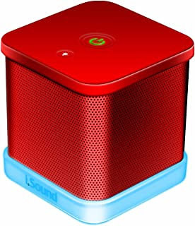 iSound iGlowSound Cube Wired Portable Speaker, Red, ISOUND-6208