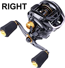 PLUSINNO Elite Hunter Baitcasting Fishing Reel Ultra Smooth 11LB Carbon Fiber Drag, 6.5:1 Gear Ratio,5+ 1 Shielded Ball Bearings, Rubber Handle Knobs