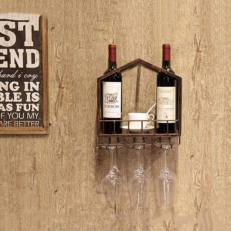 Red Wine Shelf Wine Rack Wall-Mounted Household Bar Restaurant Western Restaurant Multi-color Wine Cabinet Rack (30  18  32cm) (color   B) (color   A)