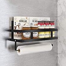 Aikzik Kruidenrek, koelkastrek, hangrek voor koelkast, magneet, kruidenrek met plank, keukenrek, keukenorganizer, opberge...