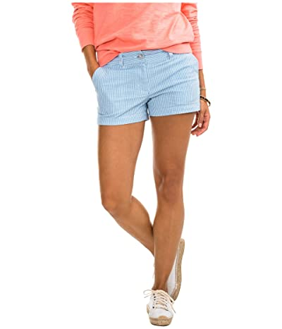 Southern Tide 3 Leah Seersucker Shorts (Boat Blue) Women