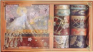 Washi-tejp, DIY Washi-tejpuppsättning, DEECOZY kinesisk stil Washi-tejp, för konsthantverk scrapbooking journal plan antec...
