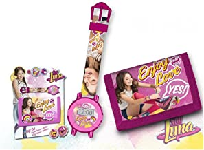 Kids Soy Luna Set Reloj y Billetera, Color Rosa