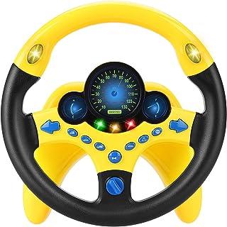 Nero BIG Rescue Sound Wheel Volante per auto a spinta per bambini Bianco