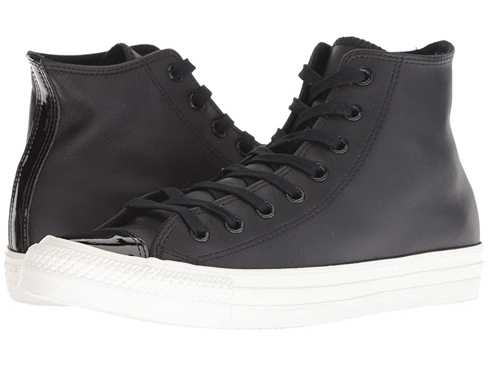 c249004aac040 Converse Chuck Taylor All Star Leather - Hi (Black/Black/Vintage White)  Lace up casual Shoes