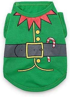 DroolingDog Dog Christmas Shirt Pet Xmas Clothes for Small Dogs