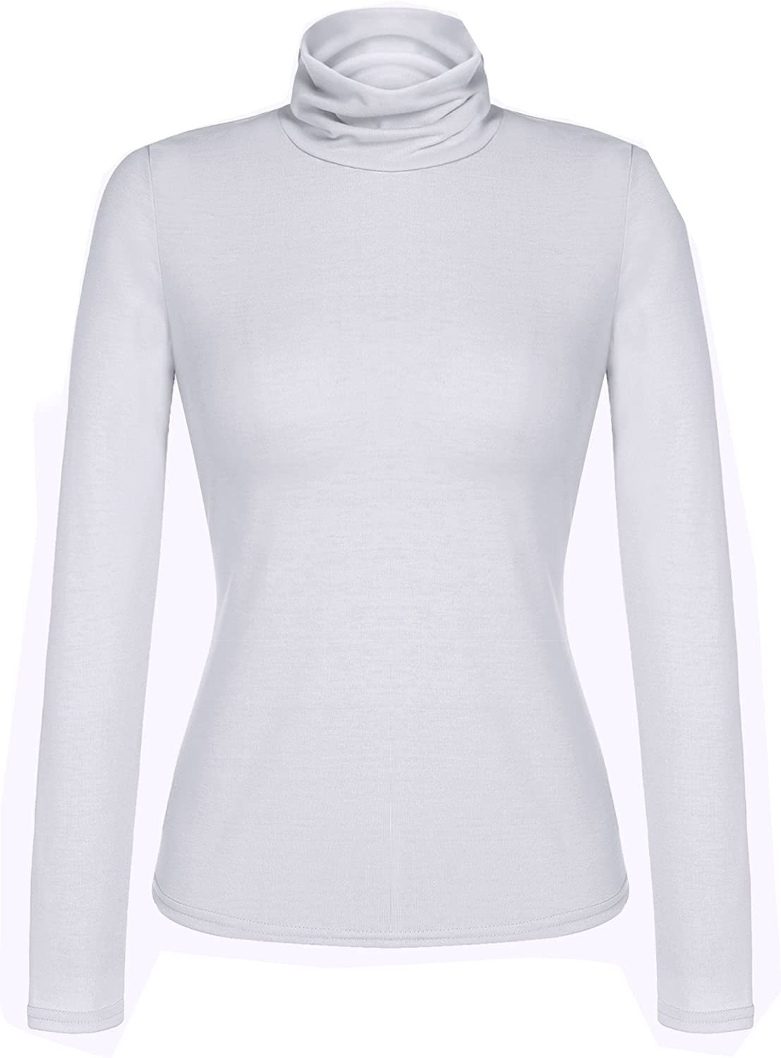 ELESOL Women's Basic Slim Fit Long Sleeve Turtleneck TShirt Top and Blouse