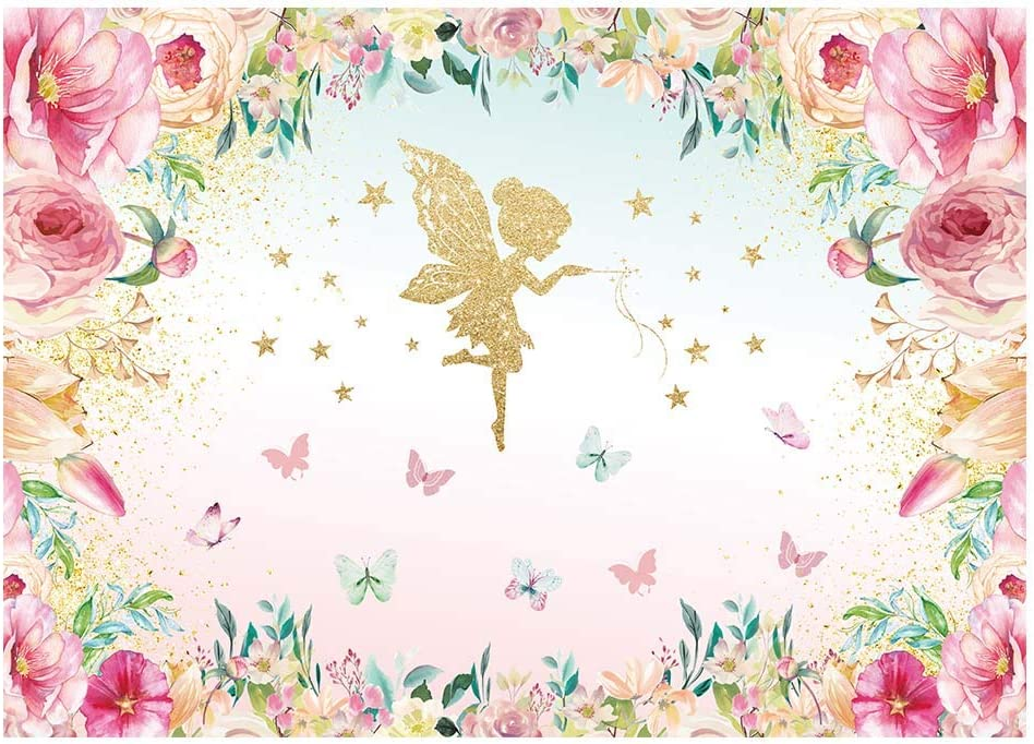 Fairy Poster Fairy Princess Party Backdrop Digital Delivery