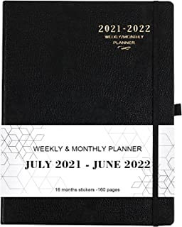 """2021-2022 Planner - Academic Planner 2021-2022 Weekly & Monthly, 8"""" x 11"""", Soft Leather Cover with Thick Paper, Back Pocke..."""