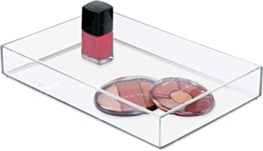 iDesign Clarity Plastic Drawer Organizer, Storage Container for Cosmetics, Makeup, and Accessories on Vanity, Countertop, Bathroom, or Cabinet, 8