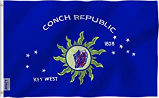 Anley Fly Breeze 3x5 Foot Conch Republic Flag - Vivid Color and UV Fade Resistant - Canvas Header and Double Stitched - Key West Flags Polyester with Brass Grommets 3 X 5 Ft