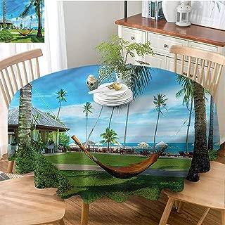 Mannwarehouse Beach Dustproof tableclothHammock Between Palm Trees Great for Buffet Table D51