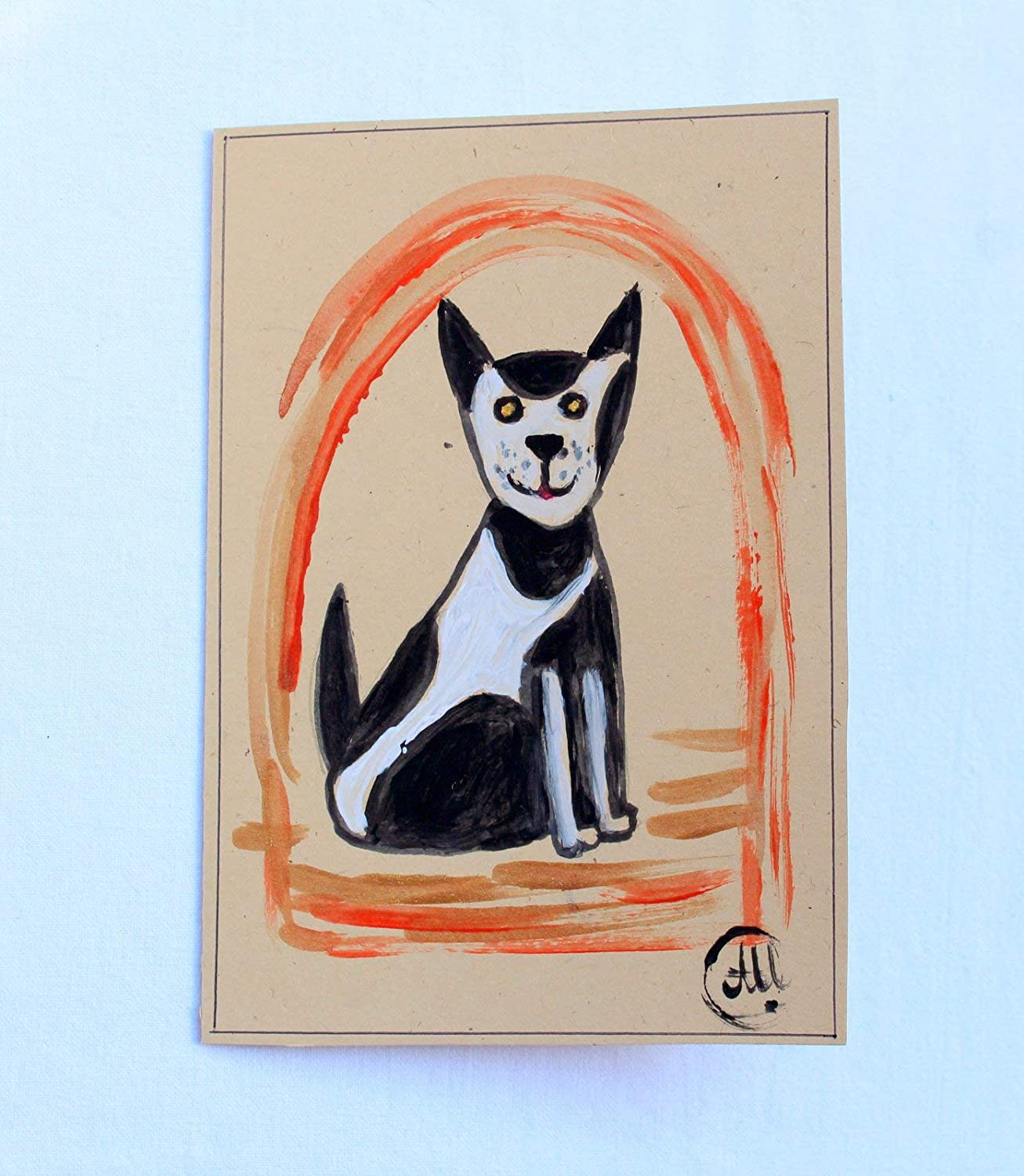 Max 60% OFF Hand Painted Watercolor dog car card Funny Birthday Directly managed store