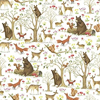 Baby Nursery Woodland Gift Wrap Wrapping Paper - 15 Foot Roll Buttons Bags and Bows
