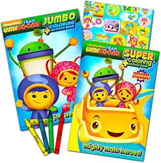 Team Umizoomi Coloring Book Super Set -- 2 Coloring and Activity Books, Over 30 Stickers and Jumbo Toddler Crayons