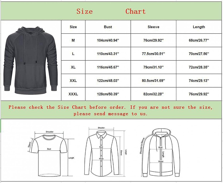 Hoodies for Men,Men's Novelty Contrast Color Pullover Fleece Hoodies Casual Sport Sweatshirts with Pocket