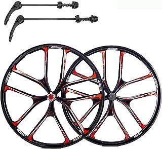 ZUKKA Bike Wheelset,26/27.5/29 inch Mountain Cycling Wheels,Magnesium Alloy Disc Brake/Fit for 7-10 Speed Freewheels/Quick...