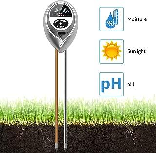 Moniteur dinstallation capteur intelligent testeur dhumidit/é du sol Couleur : Noir testeur de sol for int/érieur//ext/érieur et outils de jardinage kit de test de sol 4 en 1