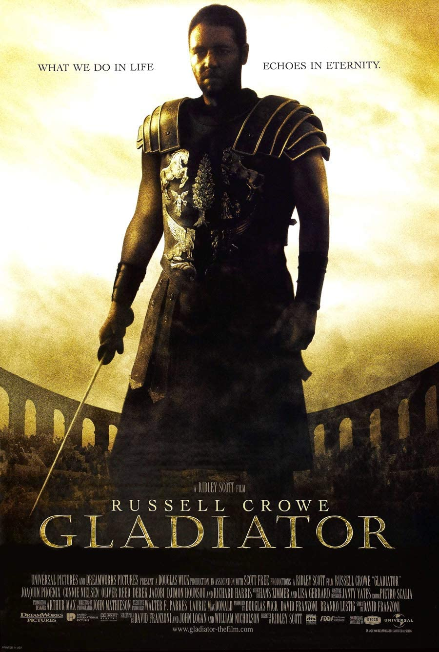 GLADIATOR MOVIE POSTER 2 Sided ORIGINAL We OFFer at cheap prices CROWE 27x40 RUSSELL Inventory cleanup selling sale
