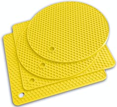 Potholders and Silicone Trivet Mats. Our 7 in 1 Multi-Purpose Kitchen Tool is Heat Resistant to 440°F, Non-slip,durable, f...