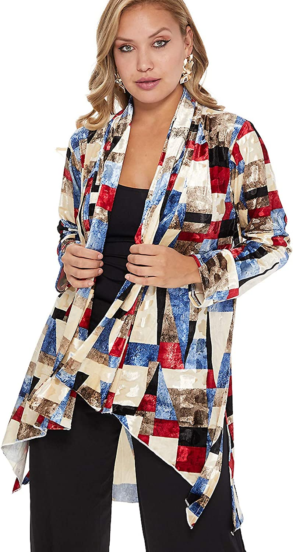 Jostar Max 71% OFF Women's Velvet Burnout Don't miss the campaign Vegas Long Jacket Sleeve
