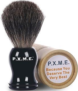 Badger Shaving Brush for Men P.X.M.Essentials 100% Pure Badger Shaving Soap Brush Kit Long-Lasting Heavy Duty Use with Shaving Cream Shaving Mug and Shaving Razor