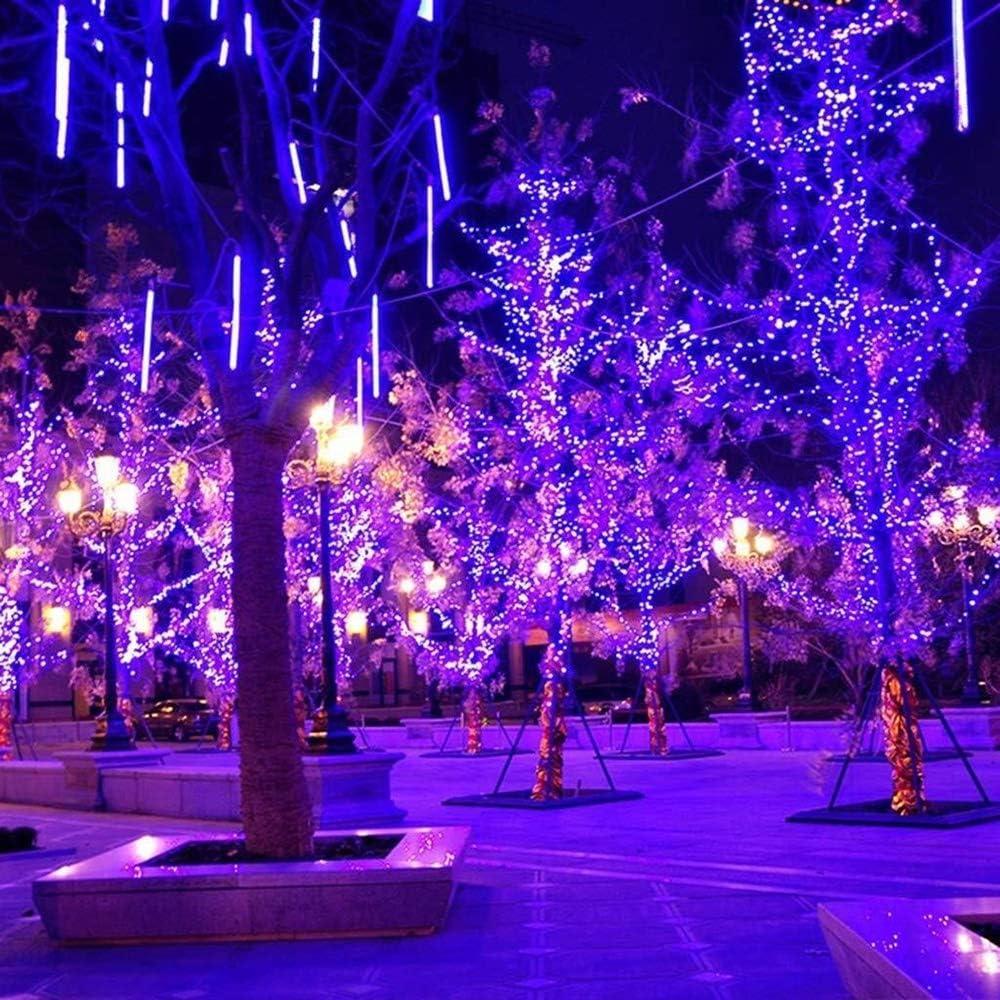 ZBM-ZBM Solarschnur-Lichter (30-1000LEDs, 3-Strang Kupferdraht, 8 Modi, 5-102M Biegsame Solar Lichterketten, Wasserdichtes Outdoor-Schnur-Licht For Garten Innenhof Zaun Weihnachtsbaum-Hochzeitsfest L Blue-5m/30leds