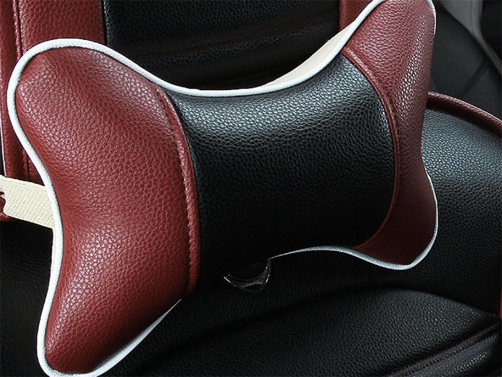 RUIRUI Coprisedili di cuoio di lusso del cuoio dellunit/à di elaborazione 5 posti universali misura universale misura facile da pulire i cuscini dellautomobile antiscorrimento dellautomobile