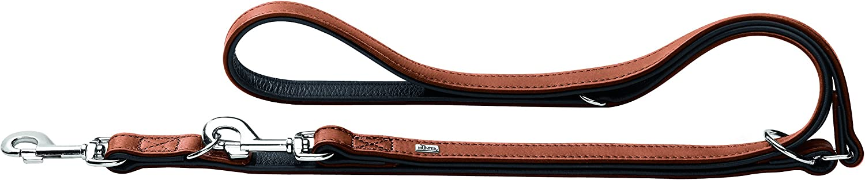 Hunter Nickel Saddle Leather Training Lead, Medium, Dark Brown