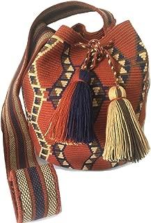 Wayuu Cute Crossbody Bags for Women Tribal Shoulder Crochet Handwoven Mochila (Large, Premium7)