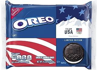 Oreo Chocolate Sandwich Cookies, Team USA Limited Edition, 15.35 Ounce