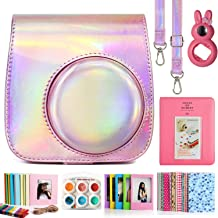CAIUL Compatible Mini 9 Camera Case Bundle with Album, Filters Other Accessories for Fujifilm Instax Mini 9 8 8+(Magic Pink, 7 Items)