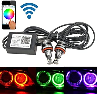 NSLUMO 2x RGBW Color change Wifi control H8 36W ANGEL EYES Lights LED HALO Cree chips For BMW E82 E87 E92 E93 E60 E61 E90 E91 E92 E93