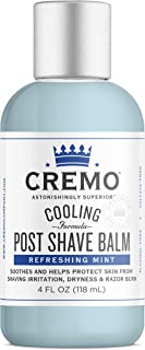 Cremo Cooling Post Shave Balm To Sooth, Cool And Protect Skin From Shaving Irritation, Dryness and Razor Burn, 4 Fluid Ounces