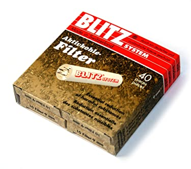 40 x Blitz Charcoal Pipe Filters 9mm