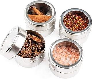 12 Pots à Épices Magnétiques en Acier Inox, Boîtes à Épices, Récipients à Épices - Aimant Puissant, Durable, Pratique - He...