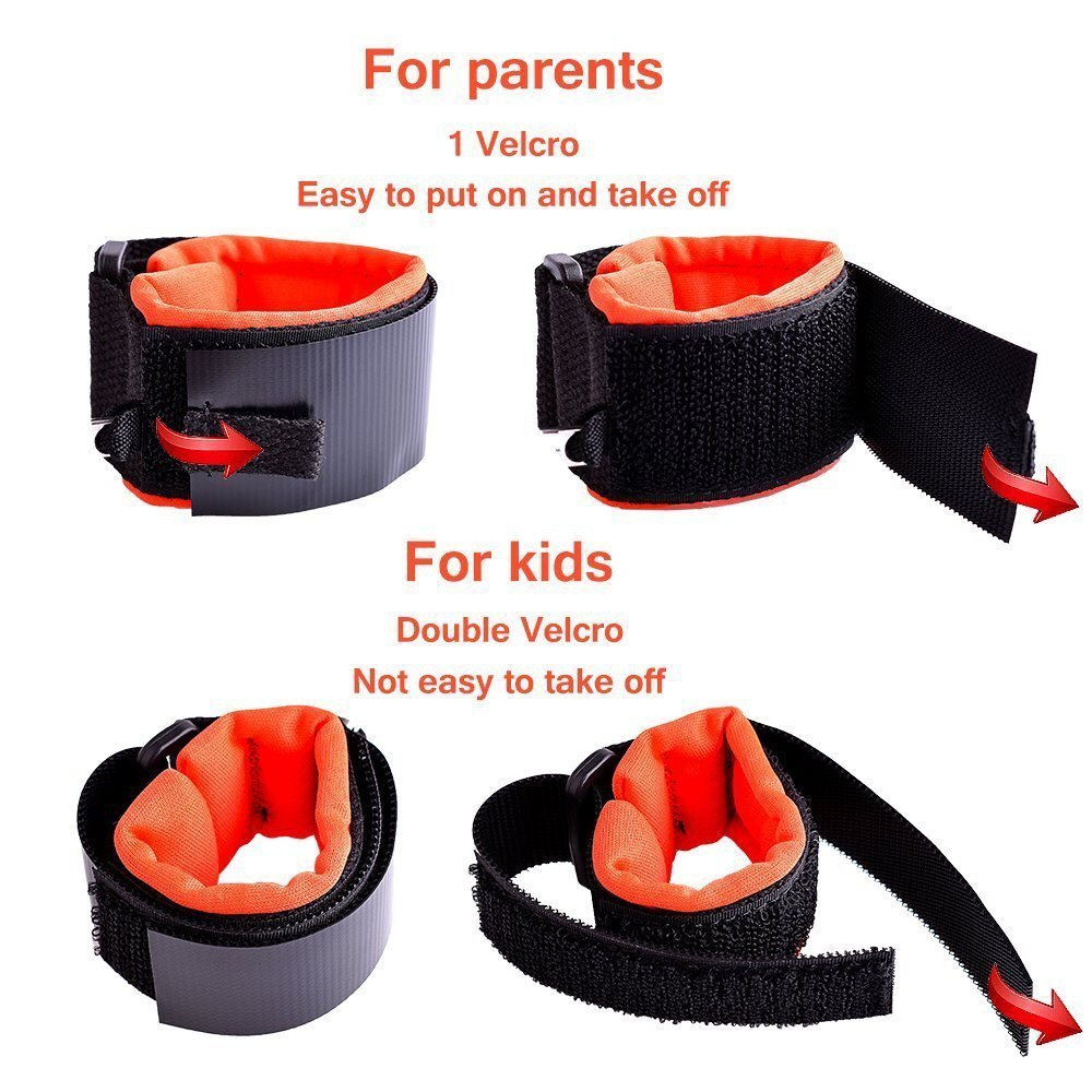 Anti Lost Child Safety and Security Harness Wrist Link Bracelet for Toddlers and Kids 1.5m Blue