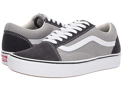 Vans Comfycush Old Skool ((Suede/Canvas) Asphalt/Drizzle) Athletic Shoes