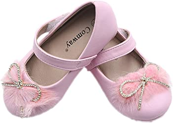 Comway Toddler Girls Dress Shoes with Bow Kwnot