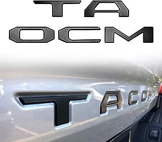 Seven Sparta 3D Raised Tailgate Letters for Toyota Tacoma 2016 2017 2018 Zinc Alloy Emblem Inserts (Matte Black)