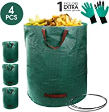Topmart 4 Pack Garden Bag 72 gallons Lawn & Leaf Bags Container Leaf Waste Bag Waterproof Collapsible Lawn and Yard Waste Containers